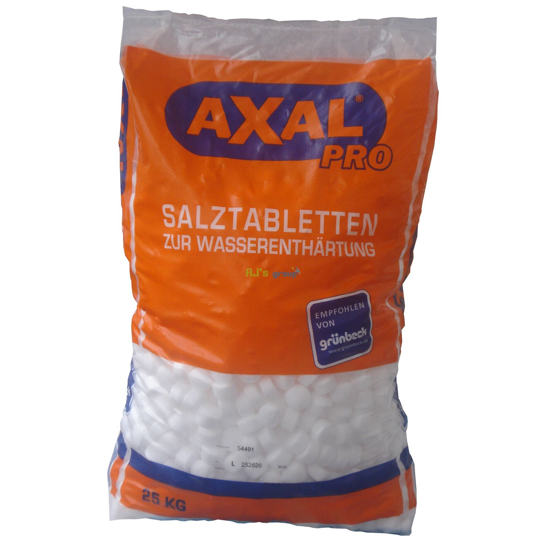 axal pro 25kg salztabletten regneriersalz wasserenth rtung wasse. Black Bedroom Furniture Sets. Home Design Ideas