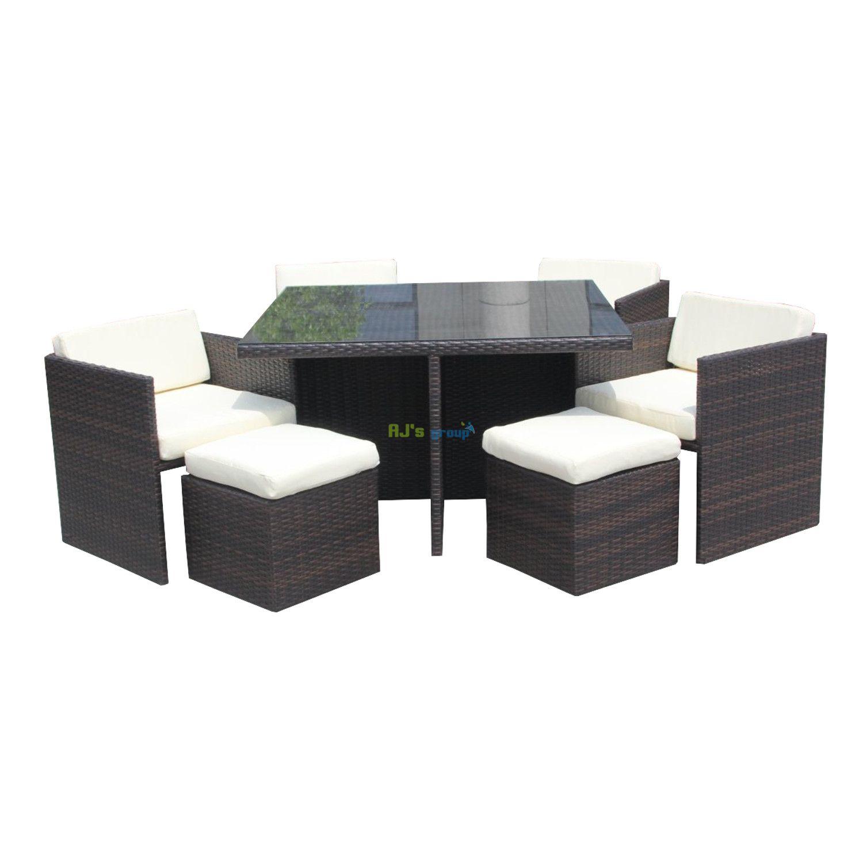 Poly rotan dining set arizona loungeset tuinset for Gartenmobel dining set