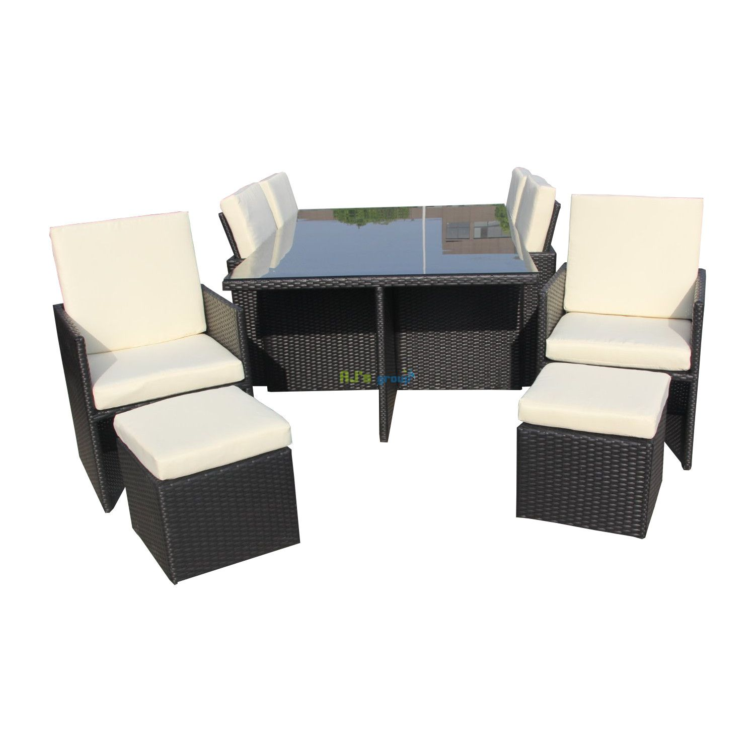 poly rattan essgruppe hawaii alu gartenm bel. Black Bedroom Furniture Sets. Home Design Ideas
