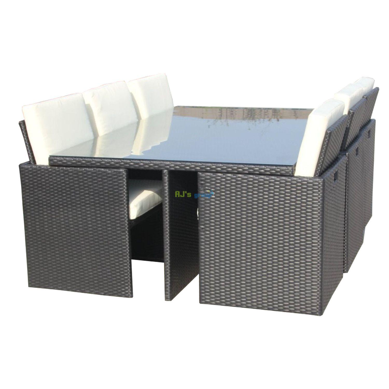 poly rattan essgruppe hawaii alu gartenm bel garnitur. Black Bedroom Furniture Sets. Home Design Ideas