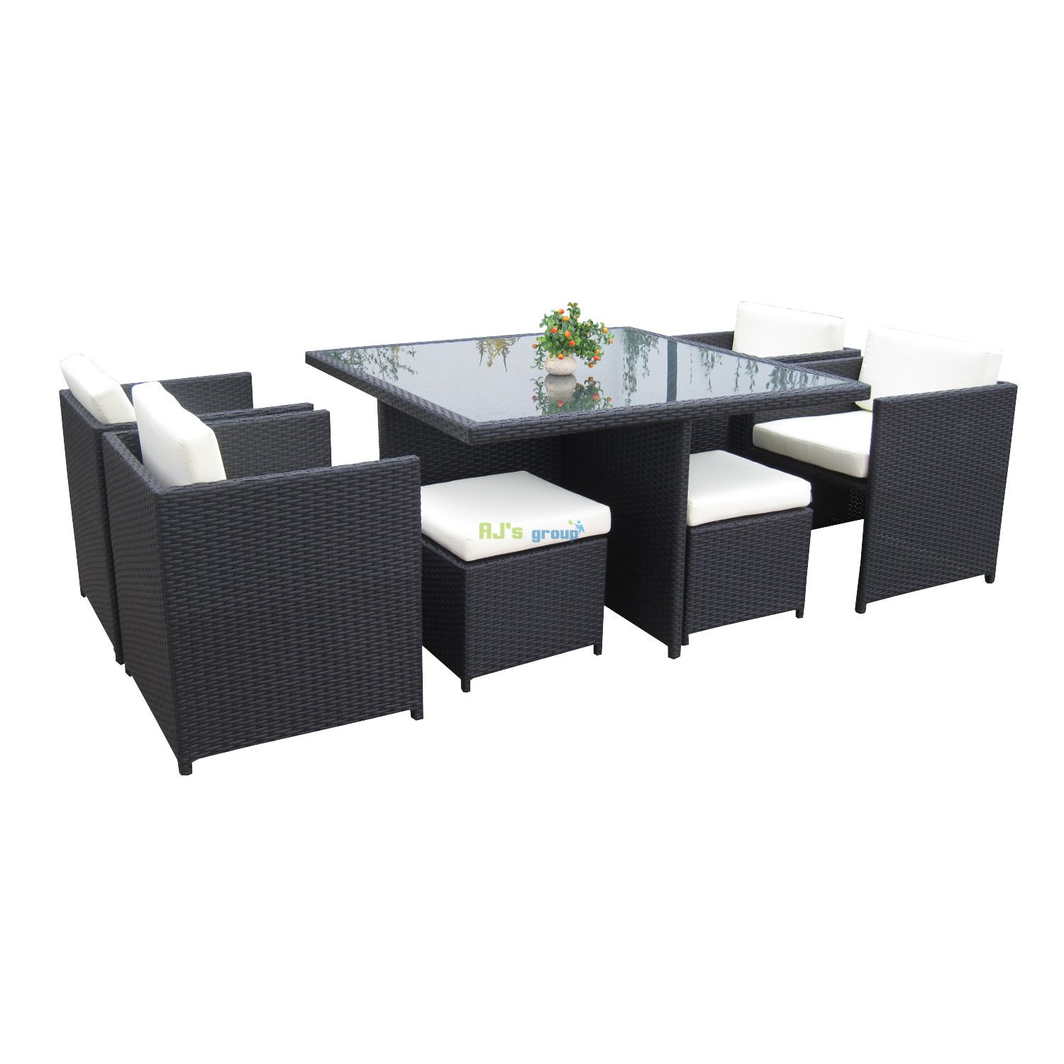 poly rotan dining set san jose loungeset tuinset tuinmeubelen lounge. Black Bedroom Furniture Sets. Home Design Ideas