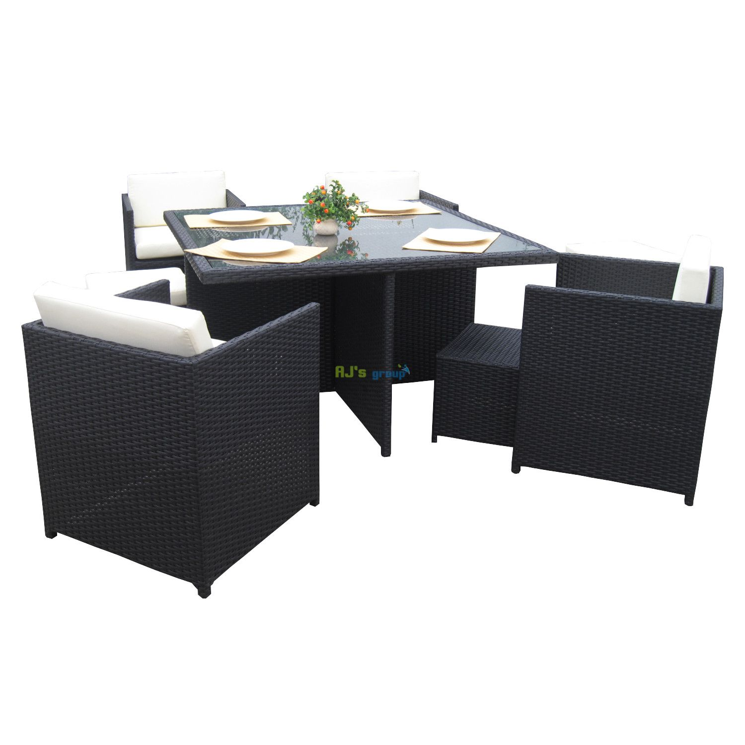poly rattan essgruppe san jose alu gartenm bel garnitur lounge g. Black Bedroom Furniture Sets. Home Design Ideas