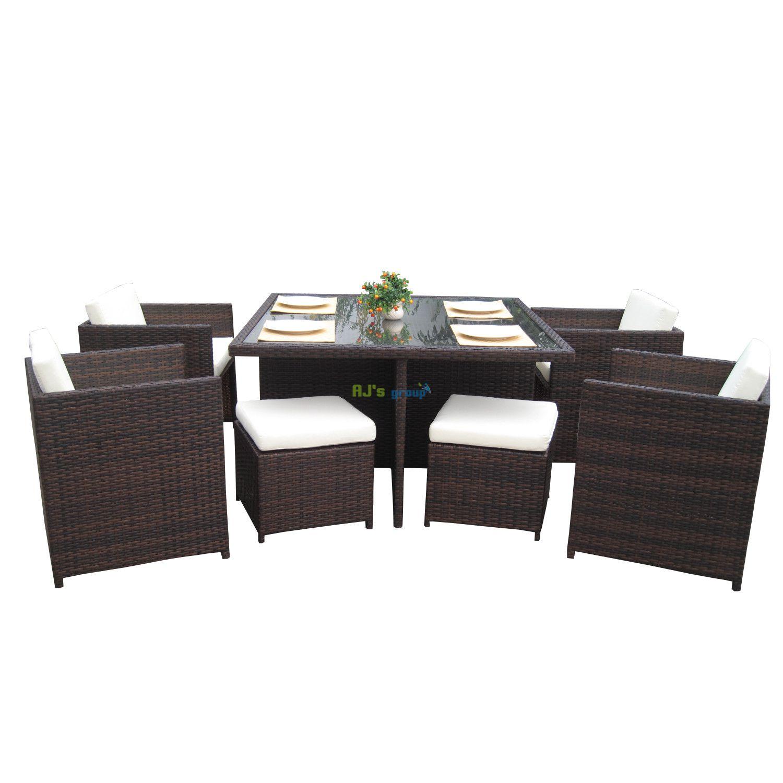 rattan wicker outdoor dinning furniture set san jose. Black Bedroom Furniture Sets. Home Design Ideas