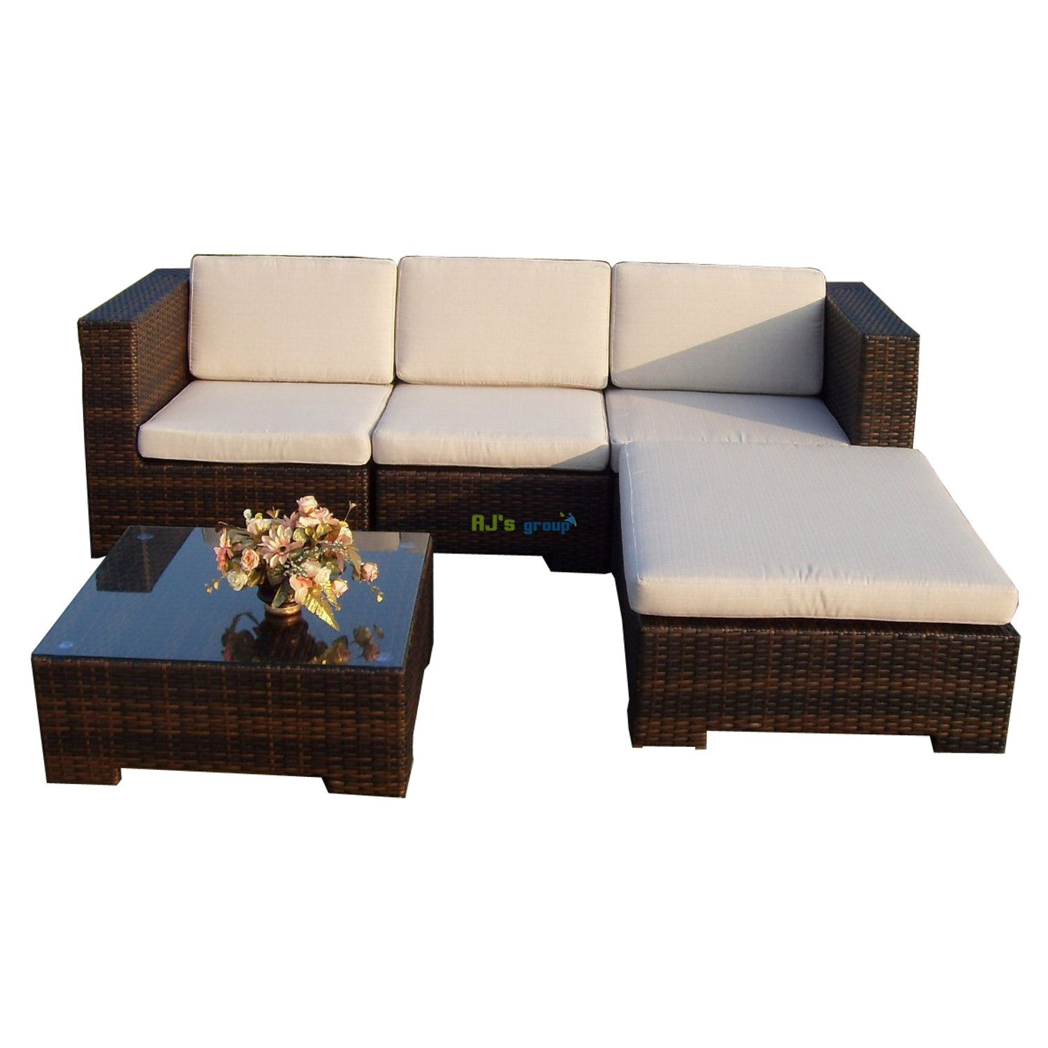 poly rattan gartenm bel california alu garnitur. Black Bedroom Furniture Sets. Home Design Ideas