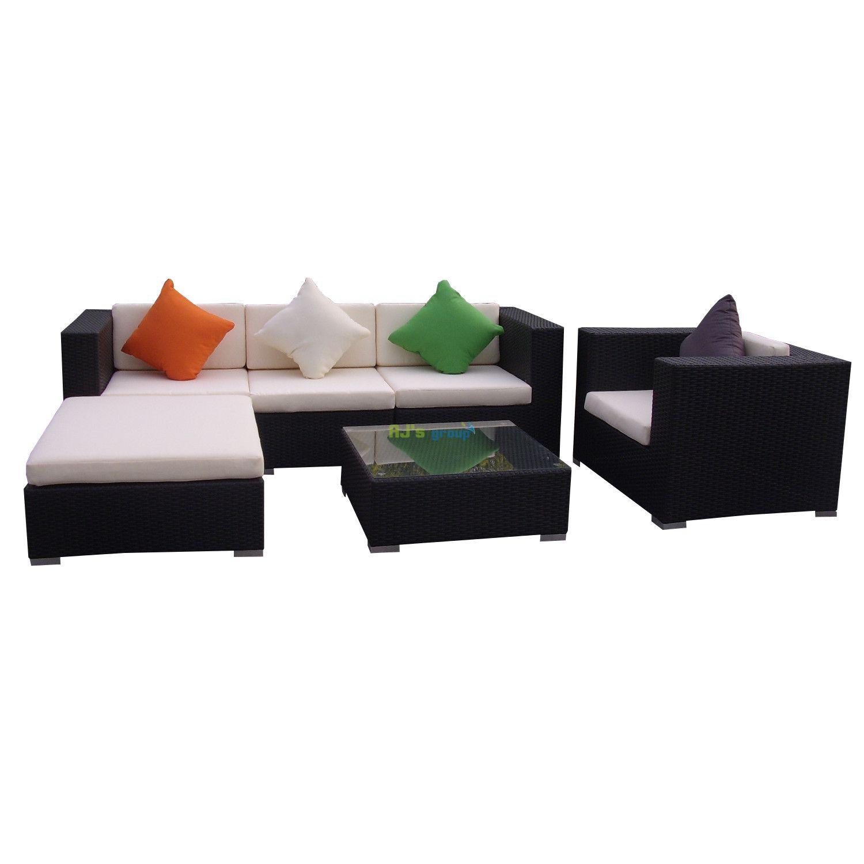 poly rattan gartenm bel florida alu garnitur lounge. Black Bedroom Furniture Sets. Home Design Ideas