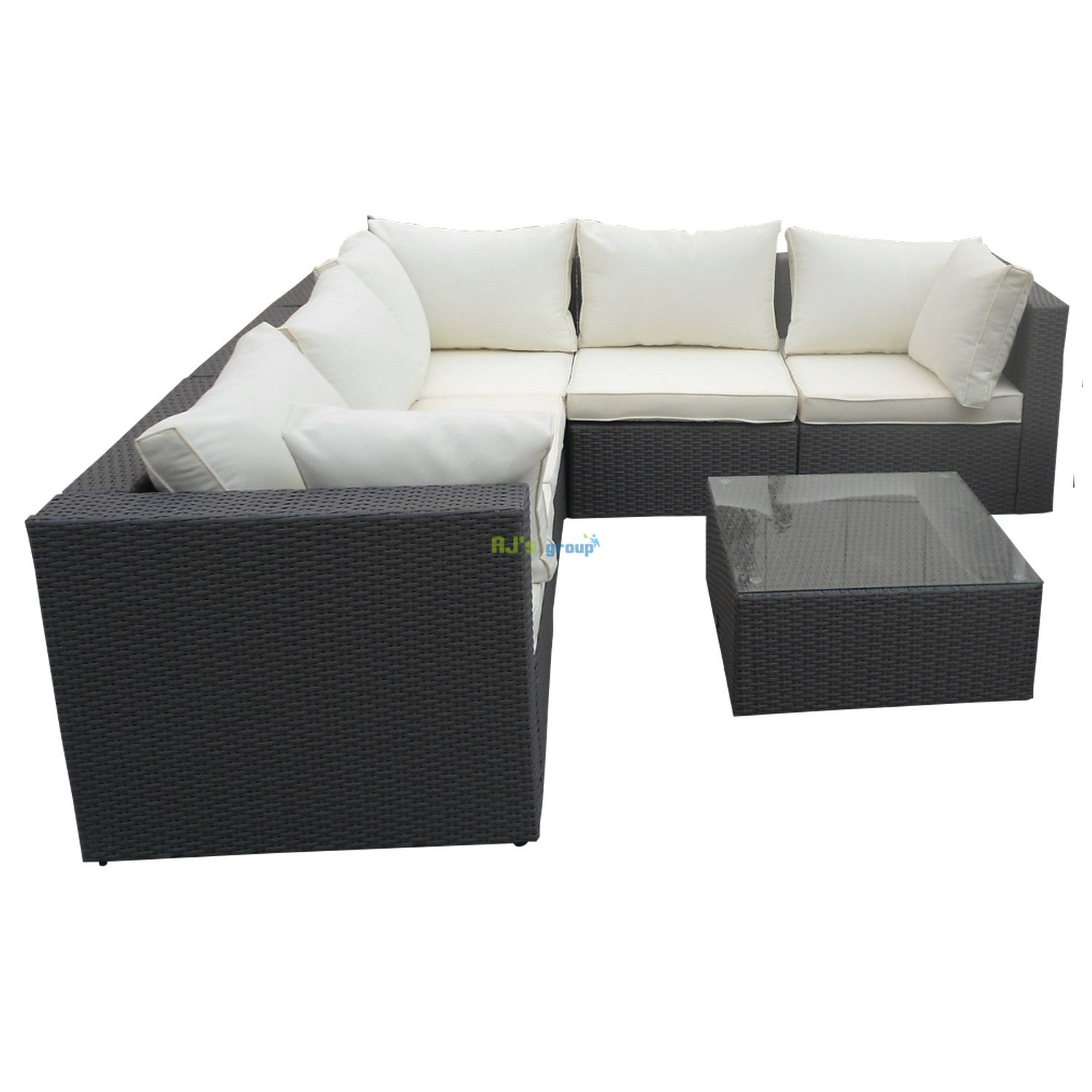 poly rattan gartenm bel havanna alu garnitur lounge garten. Black Bedroom Furniture Sets. Home Design Ideas
