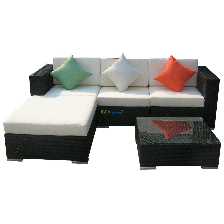 poly rattan gartenm bel houston alu garnitur lounge garten. Black Bedroom Furniture Sets. Home Design Ideas