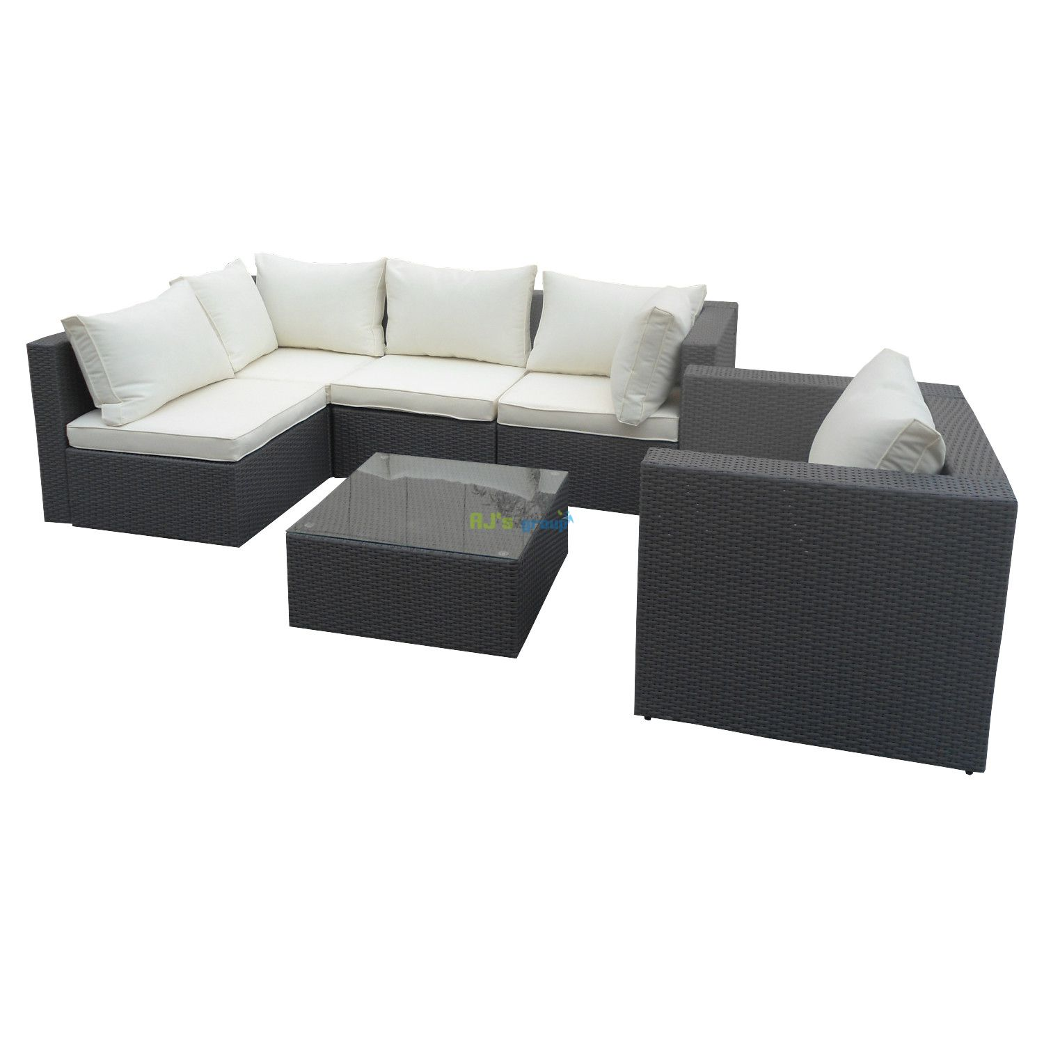 poly rattan gartenm bel jamaica alu garnitur lounge garten. Black Bedroom Furniture Sets. Home Design Ideas
