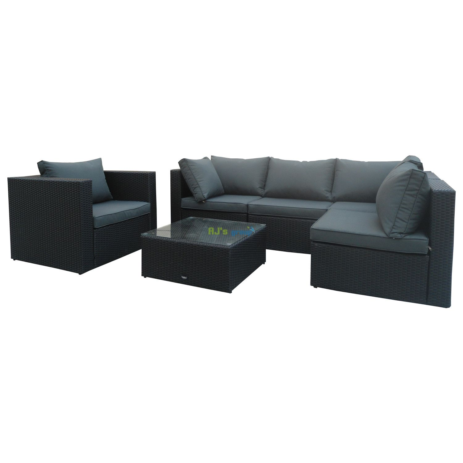 poly rattan gartenm bel jamaica alu garnitur lounge garten sitzgruppe gartenset. Black Bedroom Furniture Sets. Home Design Ideas