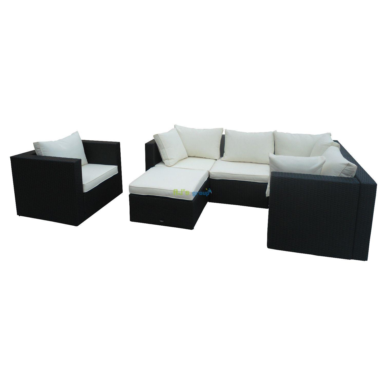 poly rattan gartenm bel kansas alu garnitur lounge garten. Black Bedroom Furniture Sets. Home Design Ideas