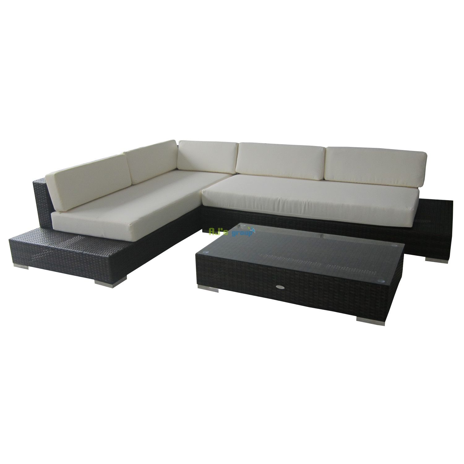 poly rattan gartenm bel kenia alu garnitur lounge garten sitzgru. Black Bedroom Furniture Sets. Home Design Ideas