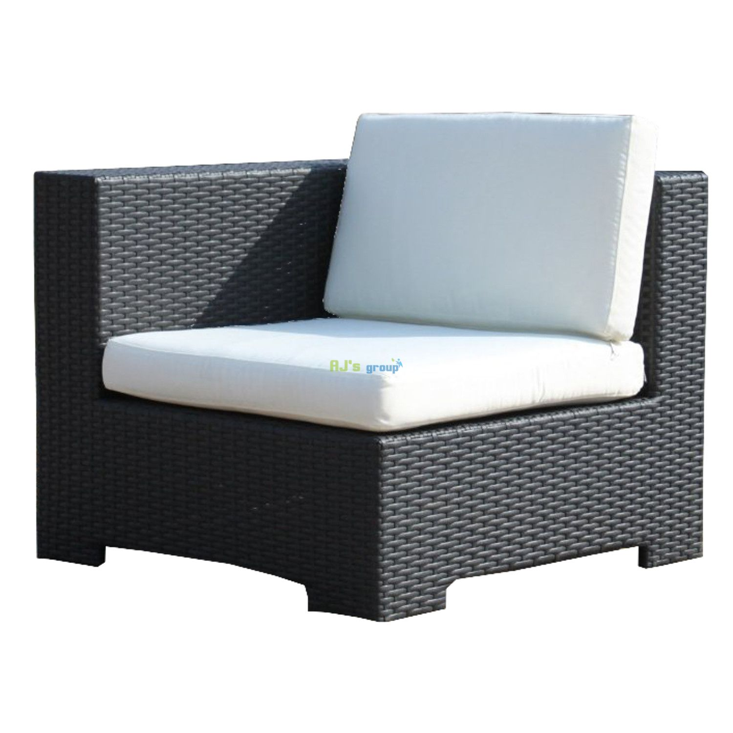 Rattan Wicker Garden Patio Set Los Angeles black Outdoor ...