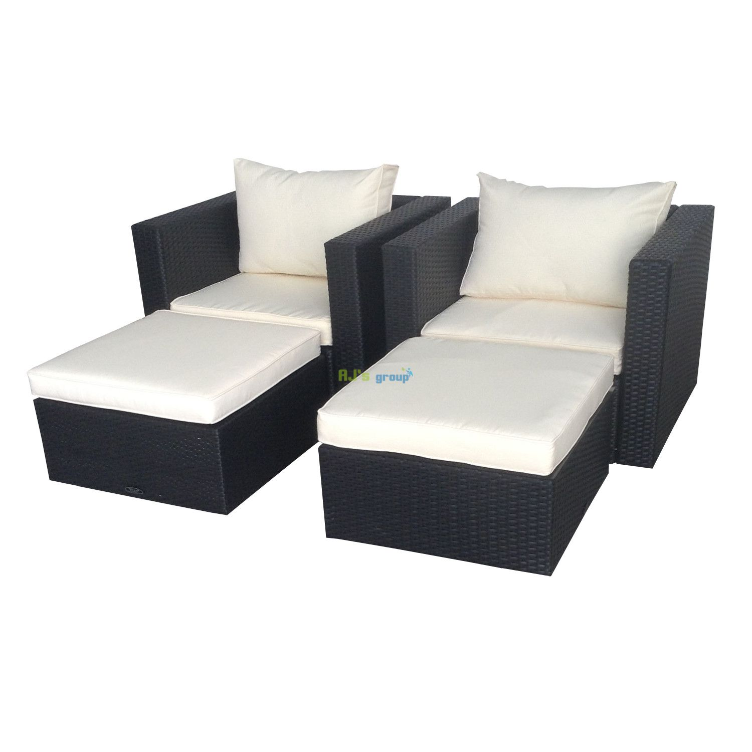 poly rattan gartenm bel madison alu garnitur lounge garten sitzg. Black Bedroom Furniture Sets. Home Design Ideas