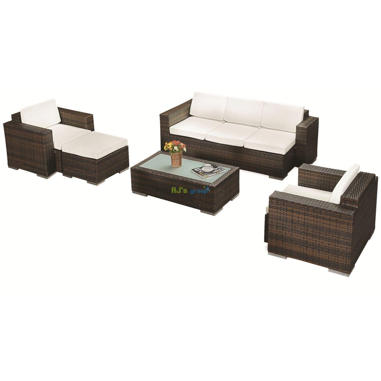 Poly Rattan Gartenmöbel Miami XL Alu Garnitur Lounge ...