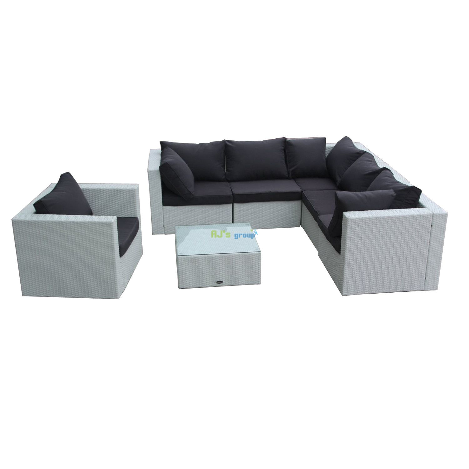 poly rattan gartenm bel new jersey alu garnitur lounge garten si. Black Bedroom Furniture Sets. Home Design Ideas