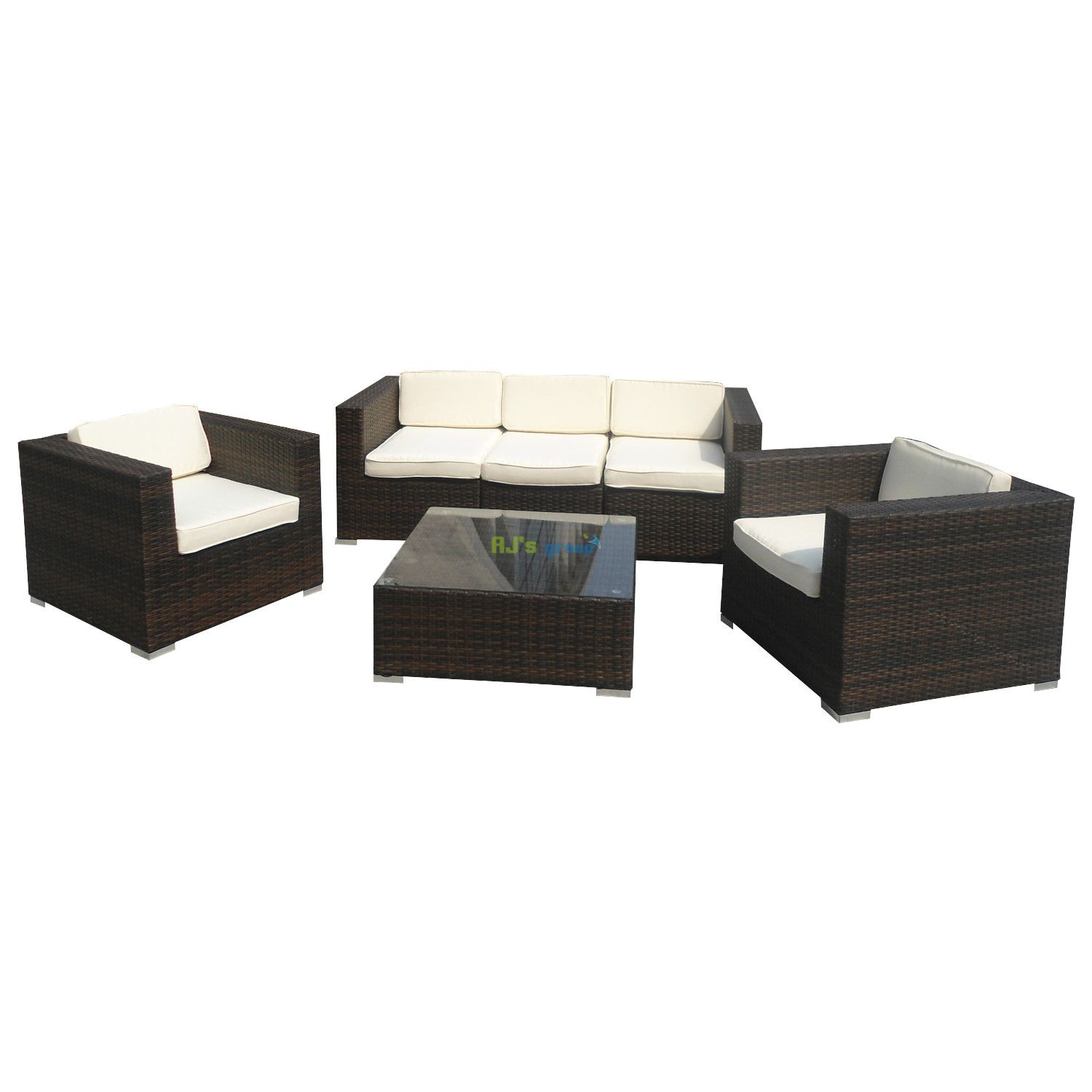poly rattan gartenm bel new orleans alu garnitur lounge garten s. Black Bedroom Furniture Sets. Home Design Ideas