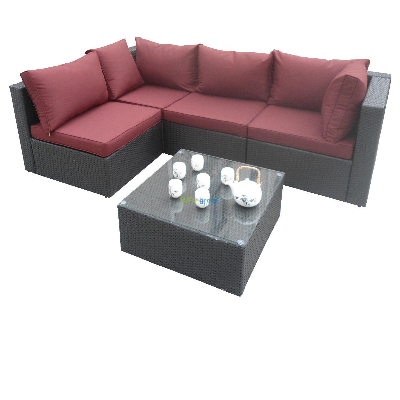 poly rattan gartenm bel riverside alu garnitur lounge garten sitzgruppe gartenset. Black Bedroom Furniture Sets. Home Design Ideas