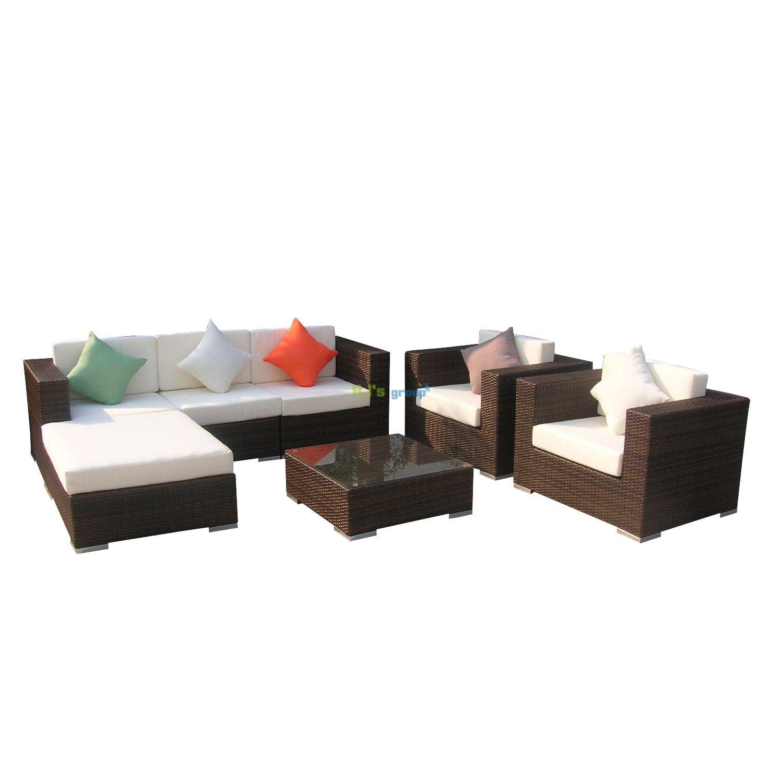poly rattan gartenm bel south carolina alu garnitur lounge. Black Bedroom Furniture Sets. Home Design Ideas