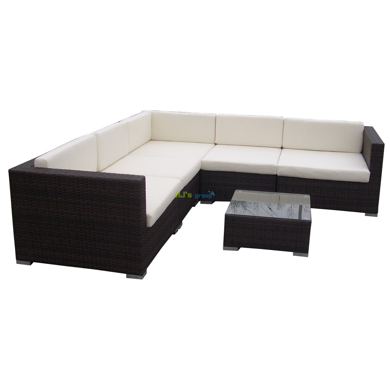 poly rattan gartenm bel texas alu garnitur lounge garten sitzgruppe gartenset. Black Bedroom Furniture Sets. Home Design Ideas