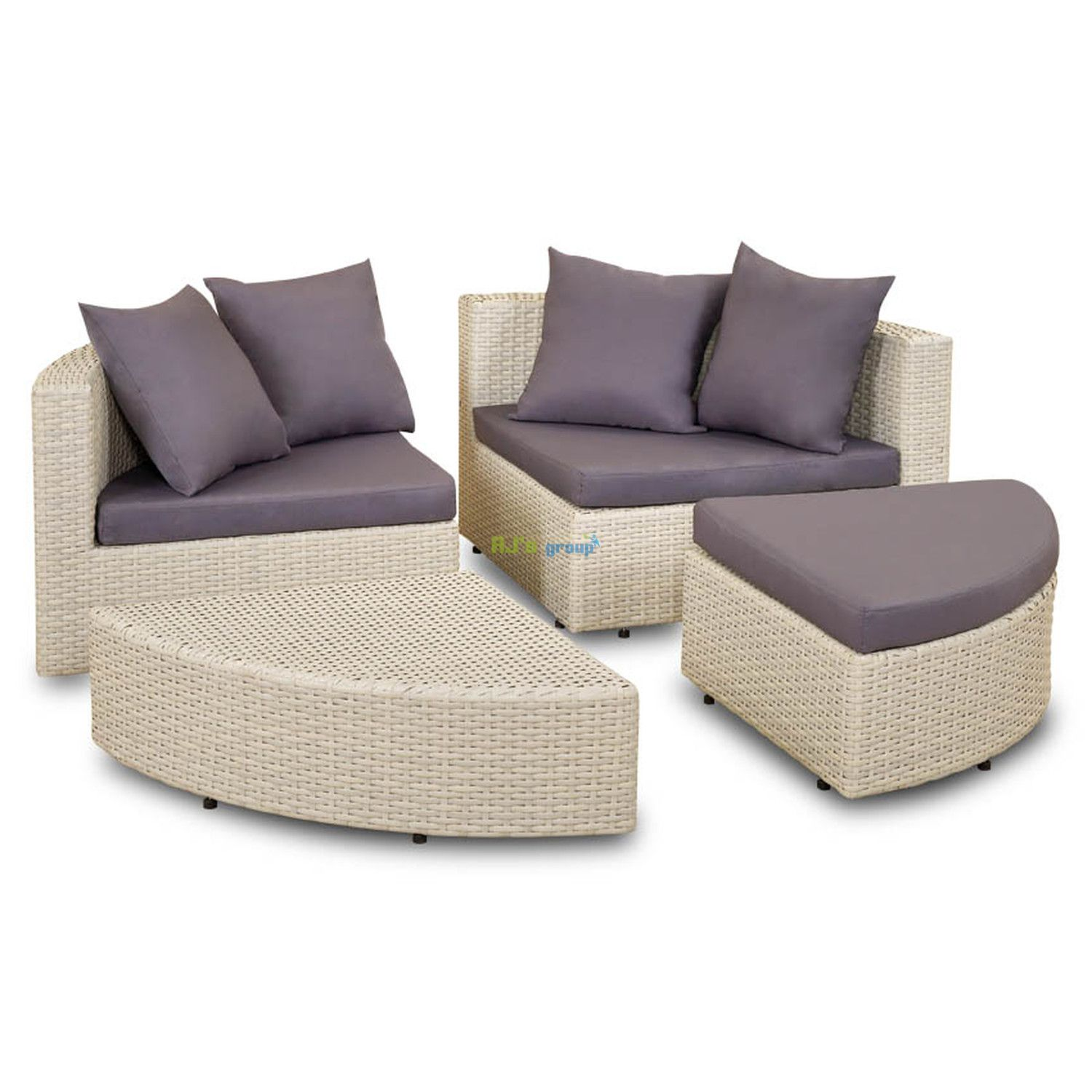 sonneninsel rattan muschel polyrattan lounge muschel. Black Bedroom Furniture Sets. Home Design Ideas
