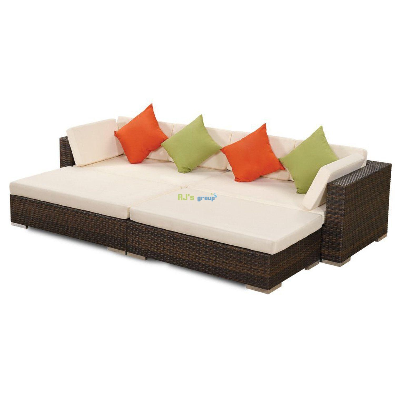 poly rattan sonnenliege paris gartenm bel. Black Bedroom Furniture Sets. Home Design Ideas