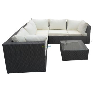 poly rattan gartenm bel havanna alu garnitur lounge garten sitzg. Black Bedroom Furniture Sets. Home Design Ideas