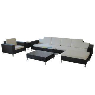 poly rattan gartenm bel alabama alu garnitur lounge garten sitzg. Black Bedroom Furniture Sets. Home Design Ideas