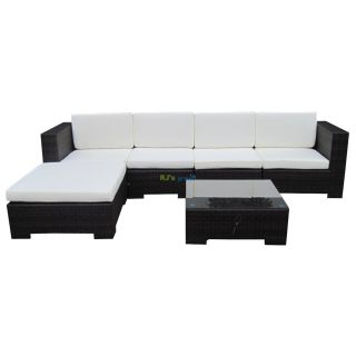 poly rattan gartenm bel casablanca alu garnitur lounge garten si. Black Bedroom Furniture Sets. Home Design Ideas