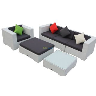 poly rattan gartenm bel georgia alu garnitur lounge garten sitzgruppe gartenset. Black Bedroom Furniture Sets. Home Design Ideas