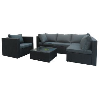 poly rattan gartenm bel jamaica alu garnitur lounge garten sitzg. Black Bedroom Furniture Sets. Home Design Ideas