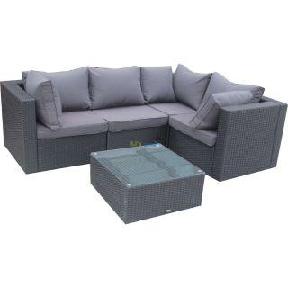 poly rattan gartenm bel riverside alu garnitur lounge garten sit. Black Bedroom Furniture Sets. Home Design Ideas